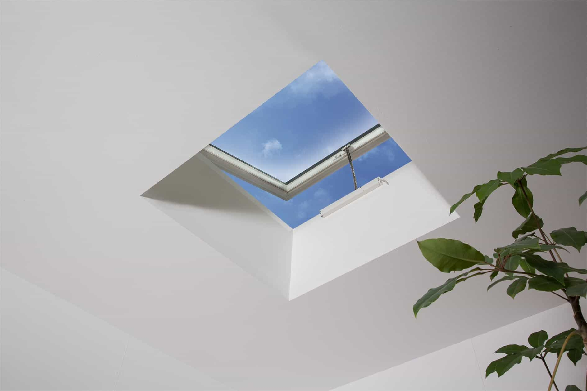 flat roof ventilation skylight