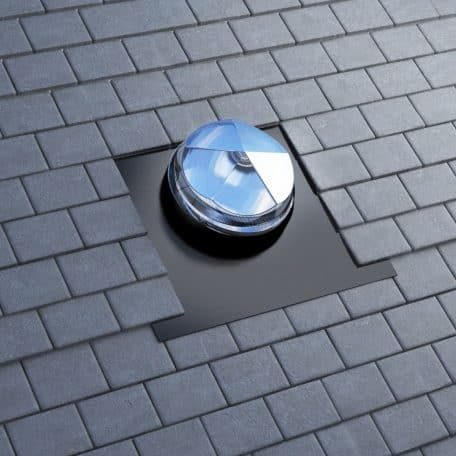 Sun tunnel for slate roof