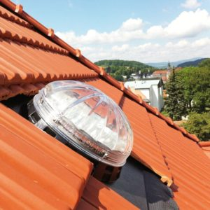 Solar tubes for pitched roof