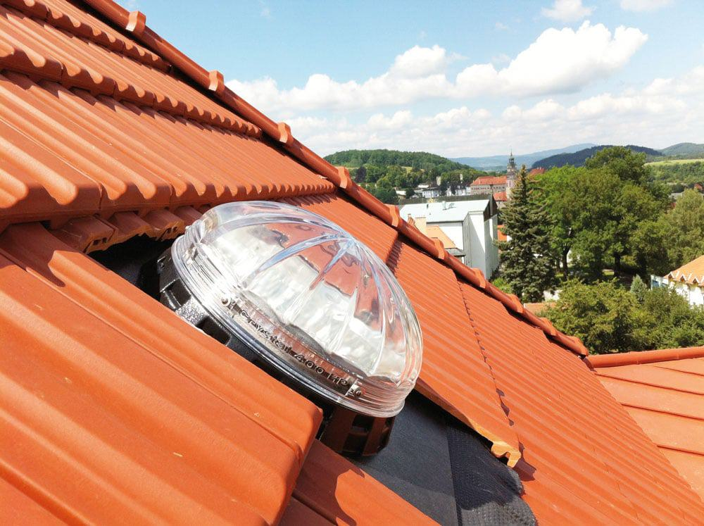 Lightway Sun Tunnel Pitched Roof Tile Roof Glass Sun Pipes