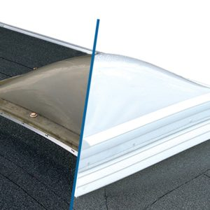 Plastic Dome Skylight Replacement  – Triple Glazed