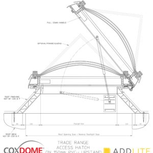 COXDOME Roof Access Hatch – Opening Rooflight for Flat Roof